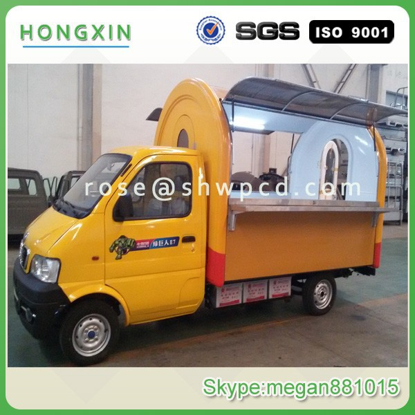 China supply mobile food cart fast food truck equipment for sale