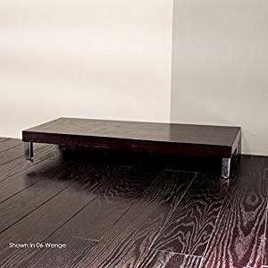"""Lacava Free-standing bench with polished stainless steel legs, 39 3/8""""W, 17 3/4""""D, 5 1/2""""H Black Plaza"""
