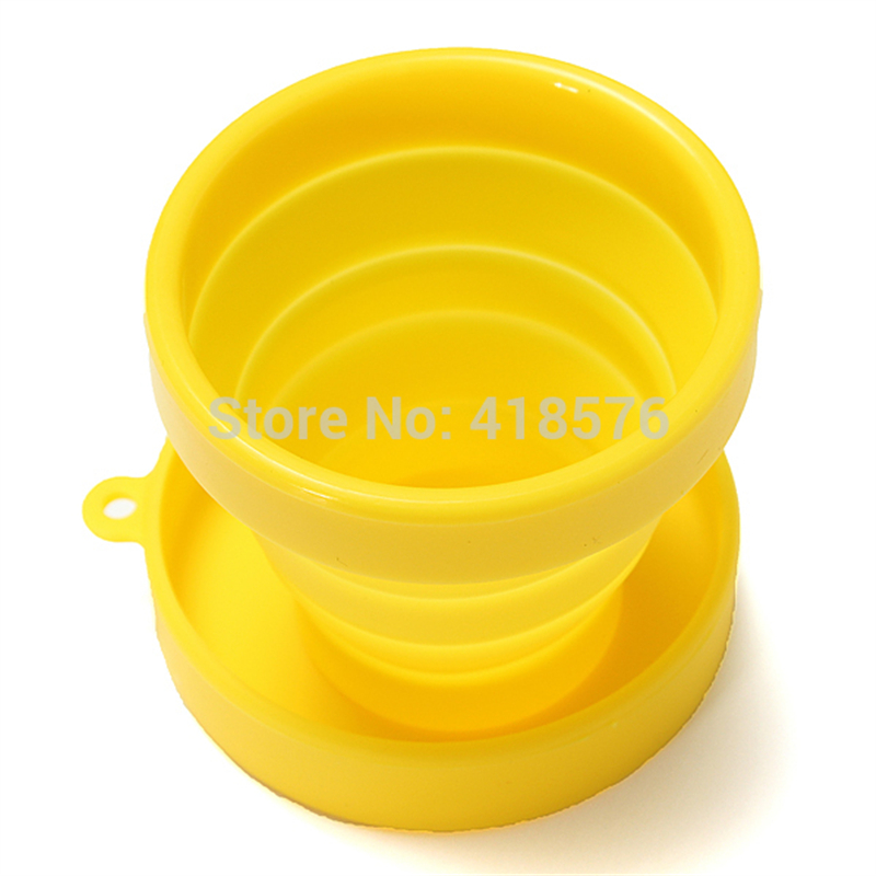 10PCS Creative Silicone Travel Camping Collapsible Outdoor Folding Cup Retractable Drinking Water Cup