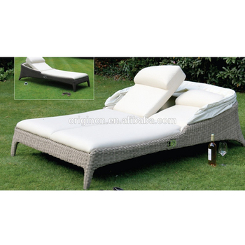 Dubai Luxus Stil Sonnenbaden Wicker Bett Möbel Outdoor Lounge-sessel Mit  Baldachin - Buy Outdoor-lounge Stuhl Mit Baldachin,Sonnenbaden Stuhl,Dubai  ...