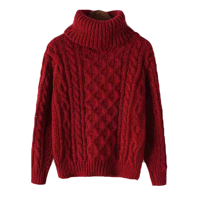 2014 New Autumn Winter Turtleneck Sweater Mohair Loose Knitted Sweater Casual Long Sleeve Women Sweaters and Pullovers Feminino