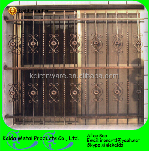 Security Metal Modern Window Grill Design
