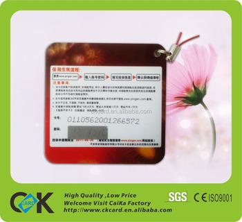 Pvc Prepaid Pin Number Scratch Card