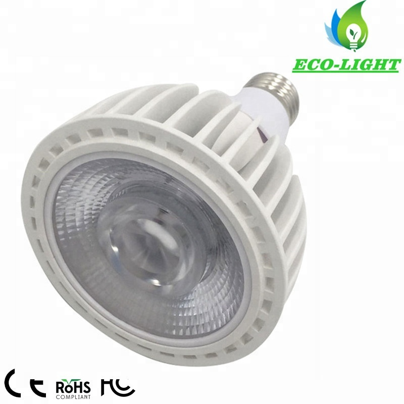 E26 E27 Retrofit for 75W Mental Halide Equivalent COB PAR30LN Long Neck Flood LED Light <strong>Bulb</strong> 40W