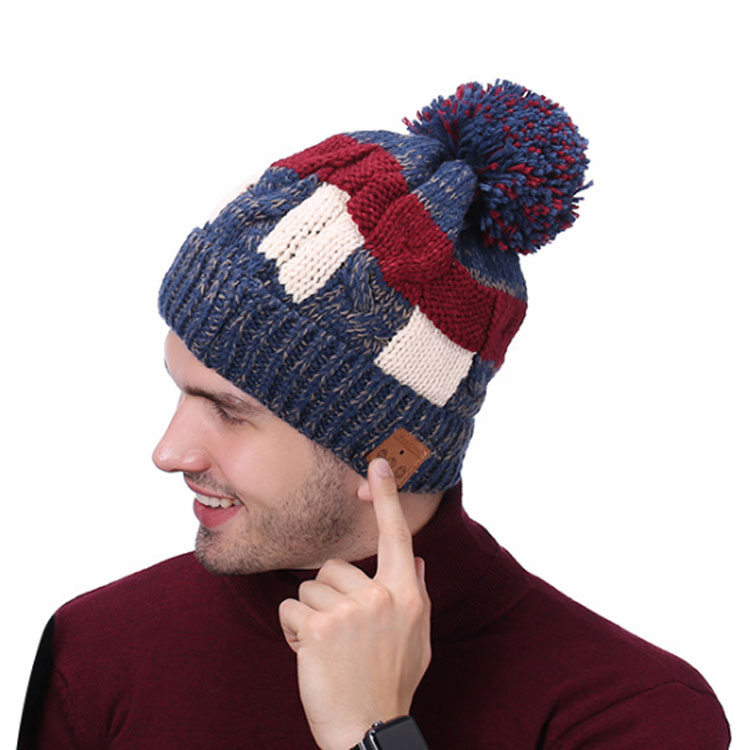 Musik Drahtlose Bluetooth Beanie Hut Gestrickte Bluetooth Kappe mit fleece