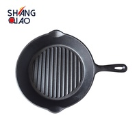 Factory Direct Wholesale High Quality Cast Iron Steak Grill Pan for Kitchen