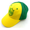 custom 6 panel cotton casquette yellow embroidered baseball cap for football team