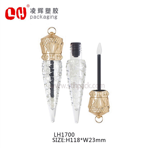 Empty luxury plastic The Queen Of Wands lip gloss <strong>tube</strong> with key hole on top
