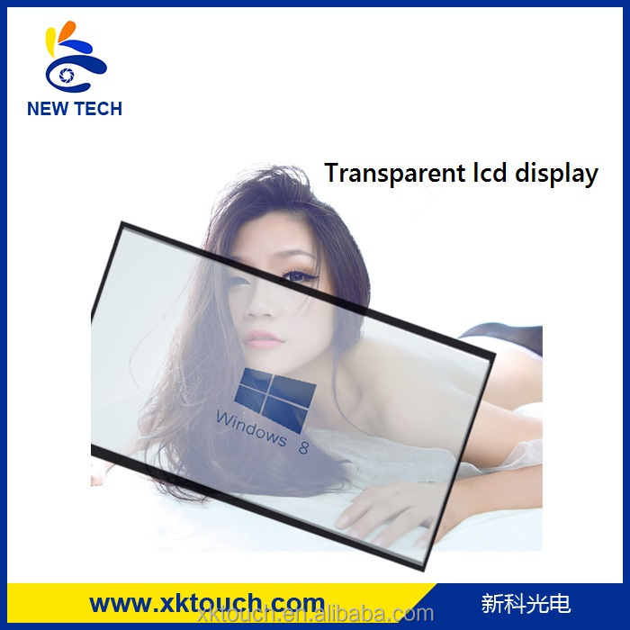 23.6 inch transparent LCD monitor for advertising connect to computer