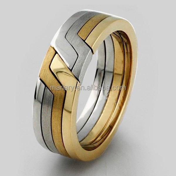 Two Tone Turkish Titanium Puzzle Ring Buy Turkish Puzzle Ring