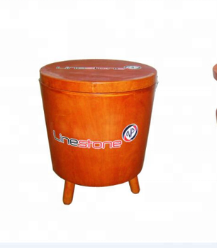 Table Insulated Wooden Cooler Box Round Ice