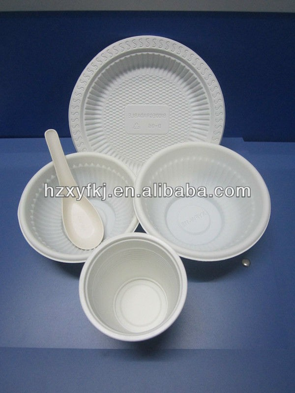 Disposable BowlsCupsSpoons Plates Biodegradable Plastic China Tableware Set & Disposable BowlsCupsSpoonsPlates Biodegradable Plastic China ...