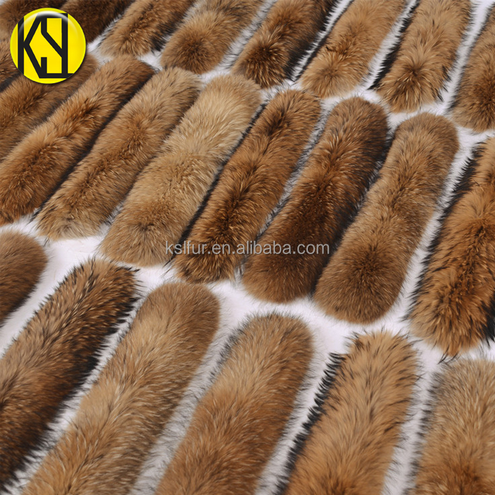 Factory wholesale raccoon fur collar/true fur shawl collar for coat/Clothing accessories