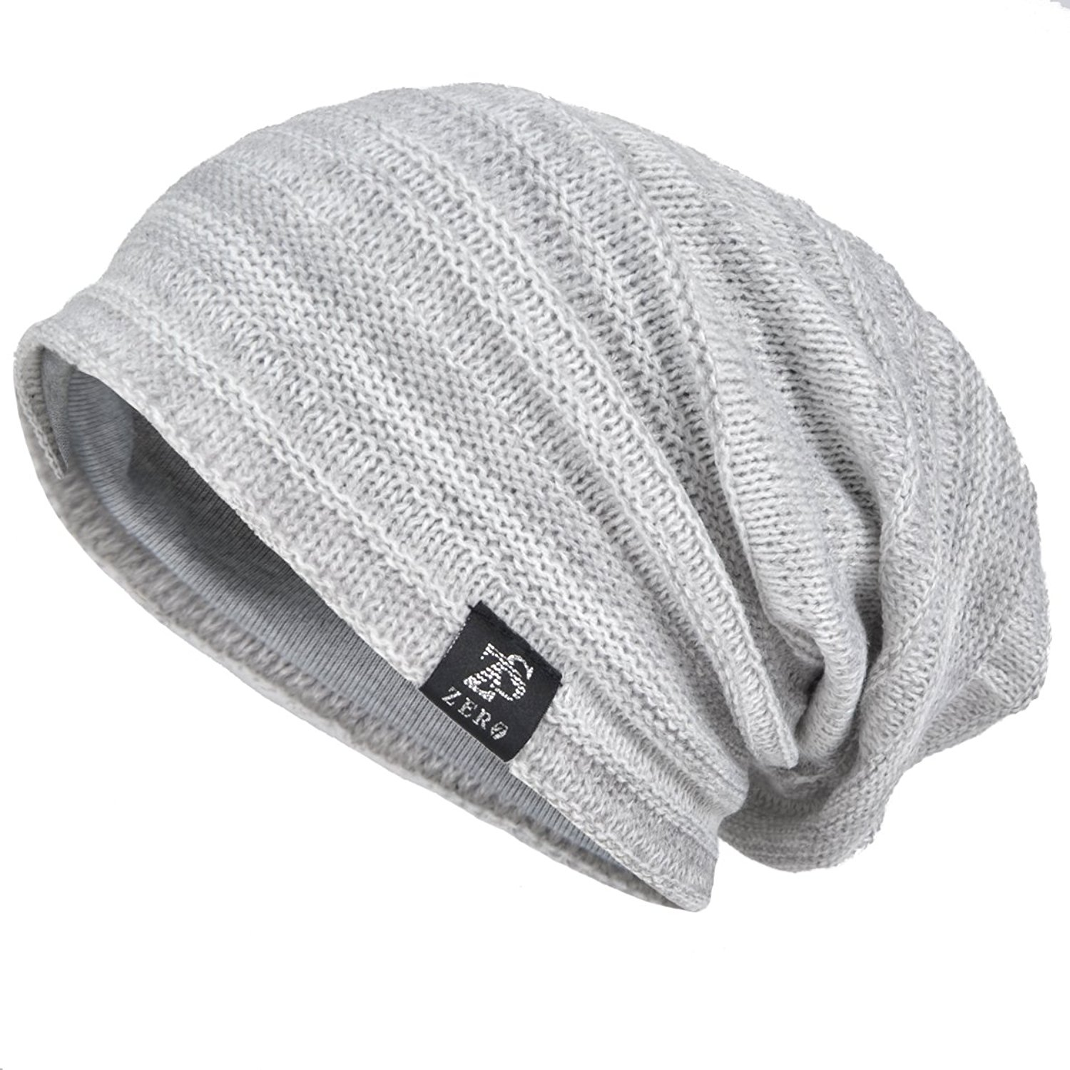 0401ce9d703 Get Quotations · VECRY Mens Slouchy Knit Oversized Beanie Skull Caps Hat