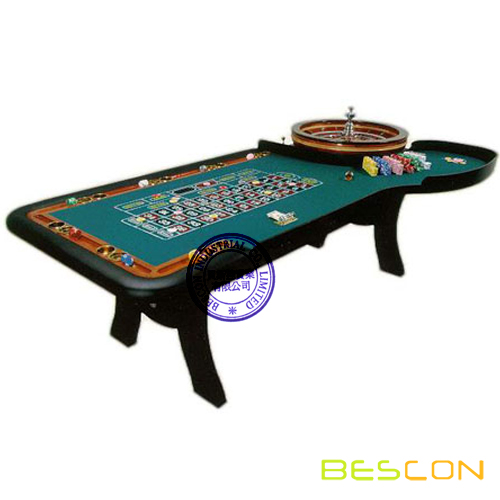 Luxury Casino Roulette Table with Roulette Wheel