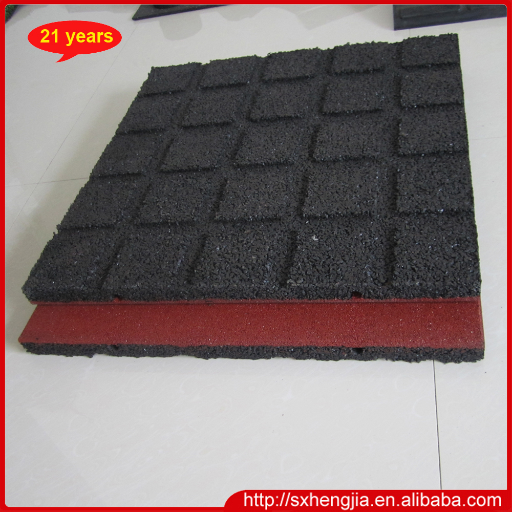 600mmx600mmx25mm Red Color Outdoor Rubber Flooring Tiles