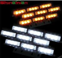 12V Police Vehicle LED Visor Strobe Flash Emergency Warning lights LED flashing car roof light