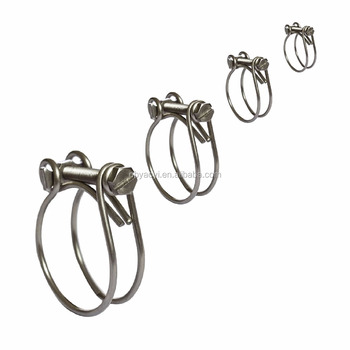 Double Wire Hose Clamps Two Wire Clips Radiator Inlet Breather Classic Cars
