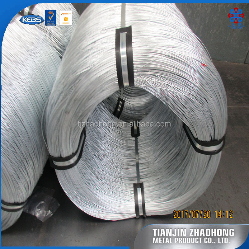 China Supplier Zhaohong Factory Top Quality 14 Gauge Hot Dip Galvanized Steel Wire for Barbed Wire