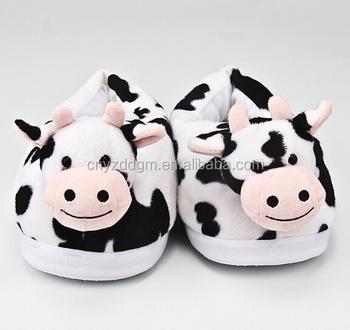 c8fdbef8a7a33 Plush Cow Slipper plush Funny Slipper kids Cow Slippers