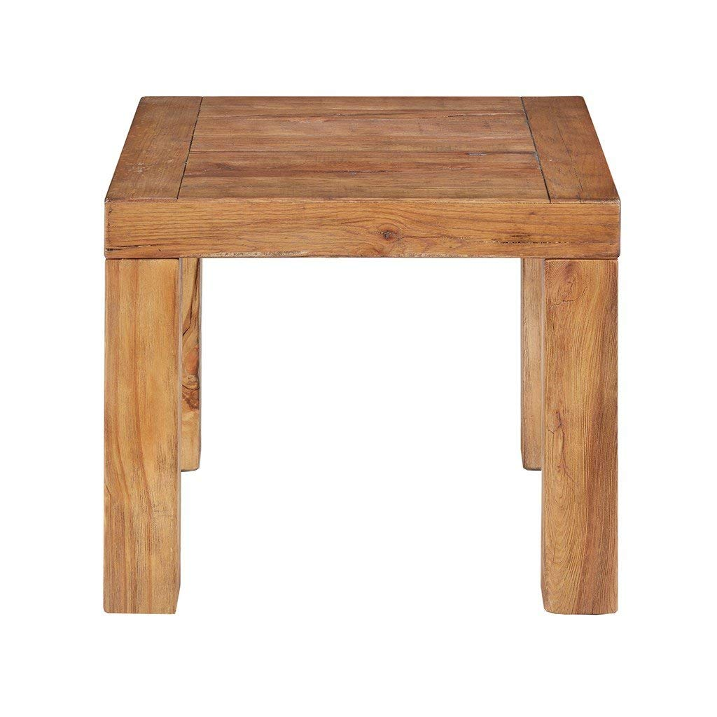 Get Quotations · Modern Distressed Reclaimed Wood Accent Table   Includes  Modhaus Living Pen (End Table)