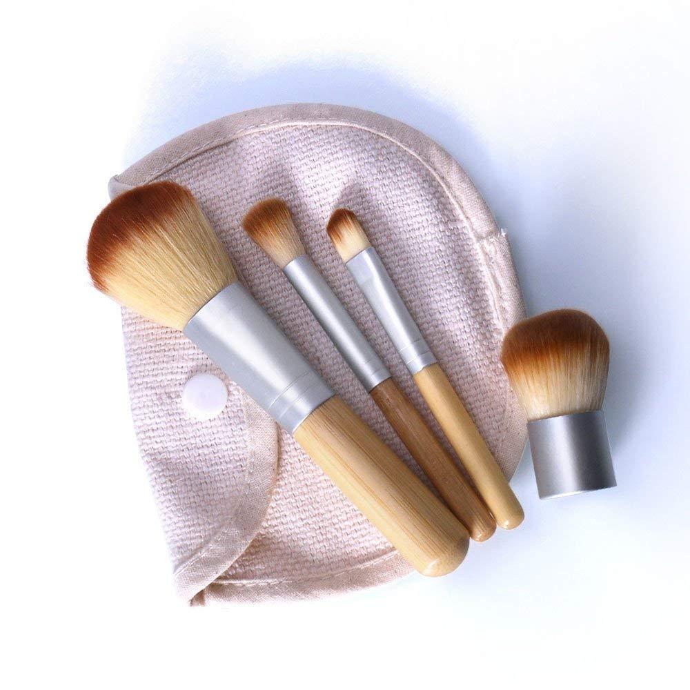 WaiiMak 4x Pro Makeup Brushes Set Foundation Powder Eyeshadow Brush Scattered brush (Beige)