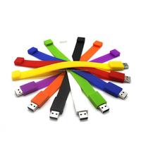 Buy Orange wristband usb,Colorful bracelet pen drive usb,Silicone ...
