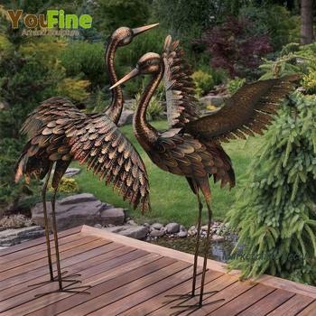 Life Size Bronze Crane Garden Statue