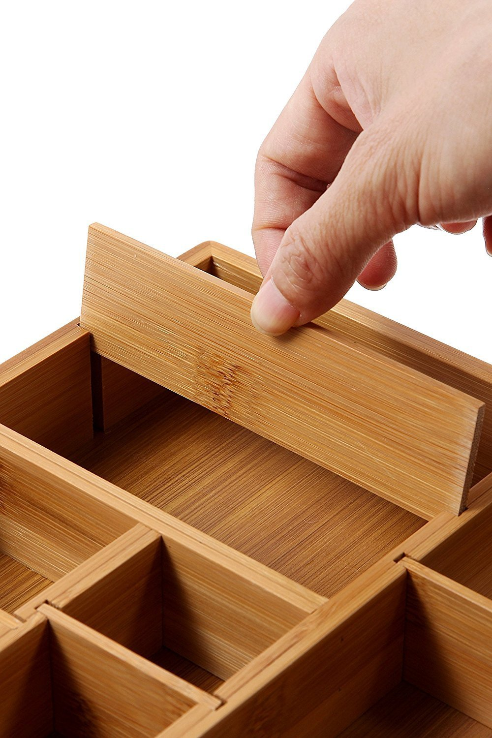 Detachable Bamboo Board Wooden Drawer Organizer For High Quality And Hot Sell
