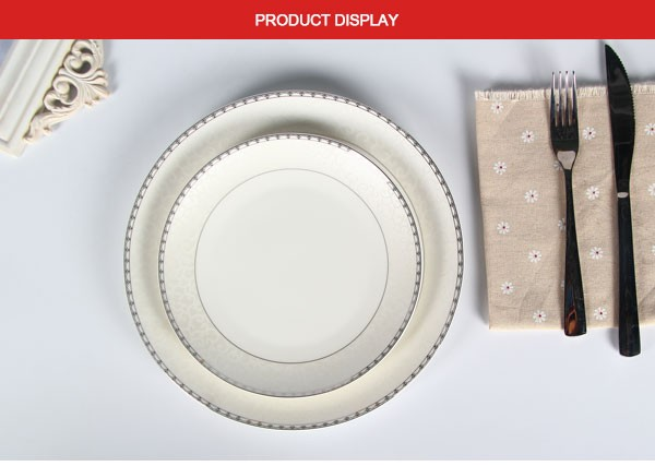 restaurants use small quantity ceramic plate printing / custom made bone china dinner plate dishes : dinner plate printing - Pezcame.Com