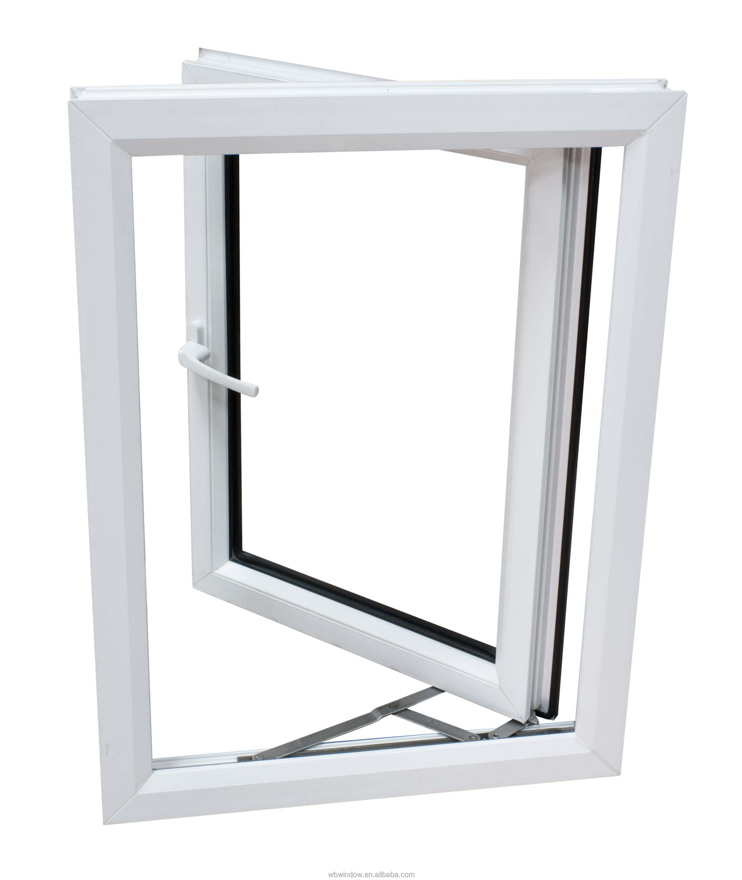 Single Casement Window : Small pvc single pane casement window for the bathroom