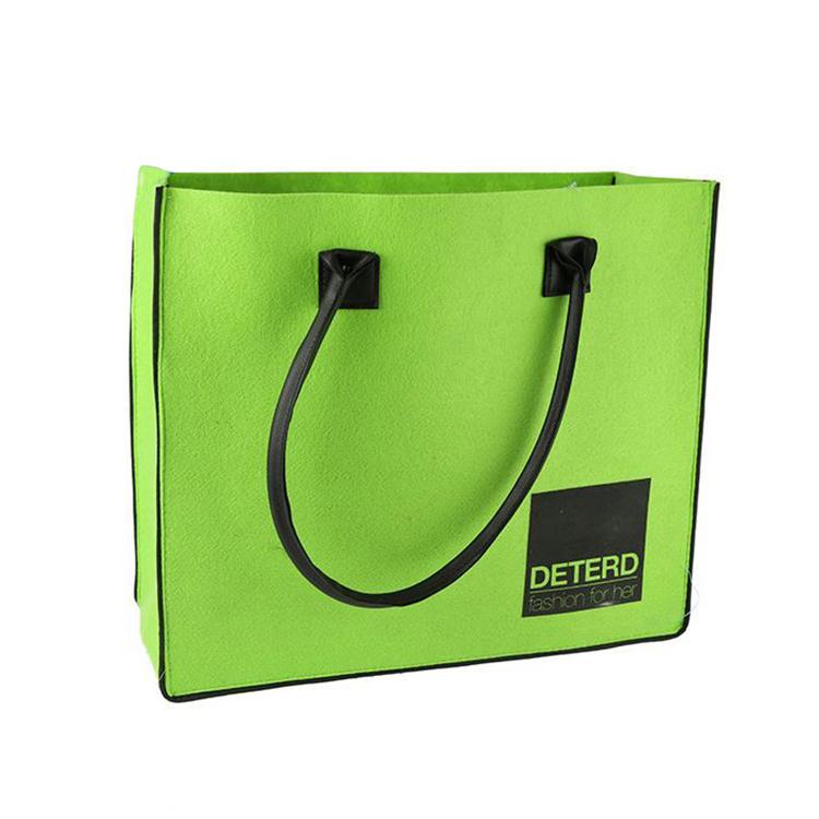 China Supplier New Design Custom Logo Printed Luxury Recyclable Felt Bag