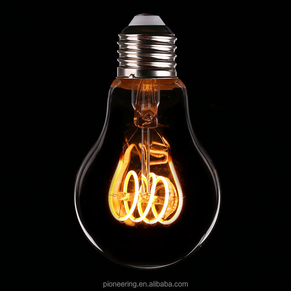 New product Flexible led filament e27 led bulb light 2200k edison style bulb