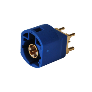 HSD Fakra Plug PCB Mount 4 Contact pin Connector for Blue GPS telematics or navigation