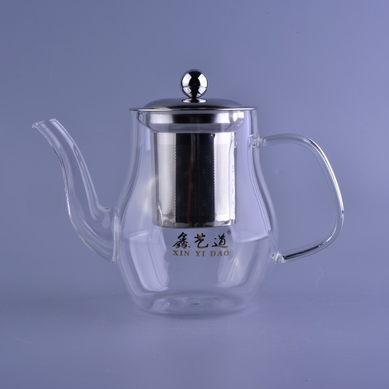700ml High borosilicate glass tea coffee pot and boiled water pot kettle with 304 stainless steel filter