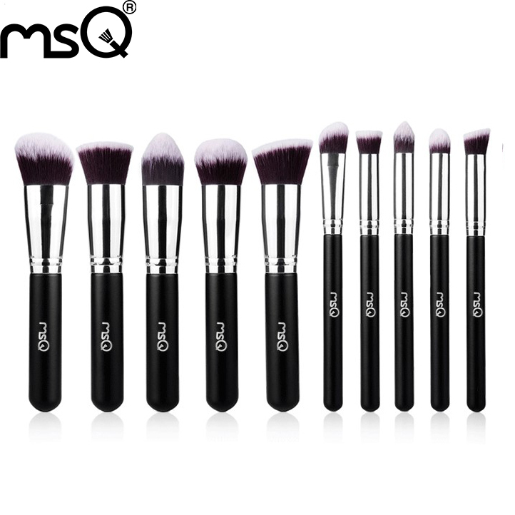7caf04968f62 MSQ 10pcs best quality synthetic hair cosmetic brush sets free shipping -  Unfair Weight
