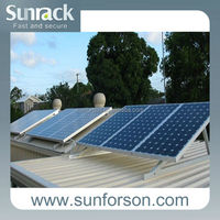 Portable solar energy roof mounting bracket