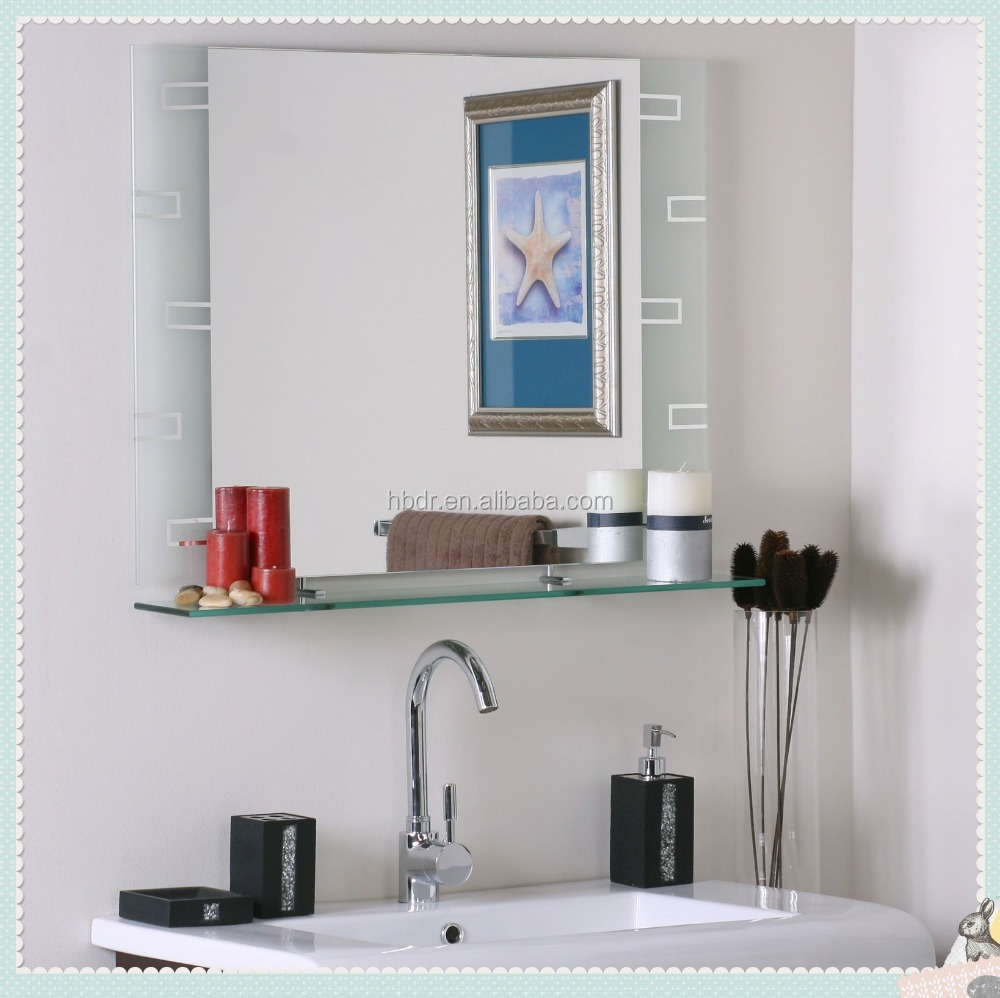 Luxury Mounted Magnifying Bathroom Wall Mirrors,Decorative Wall Mirror  Designs - Buy Wall Mirror With Shelf,Wall Mounted Shaving Mirror,Good Price  ...