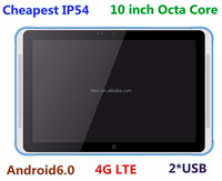 Cheapest 8 core 10 inch rugged android tablet with 4G network 32GROM 2 USB ports 1920*1200 display
