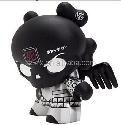 Kidrobot Back in Black Skullhead 8-inch Dunny, custom made cool dunny toys,8 inch dunny dolls in china