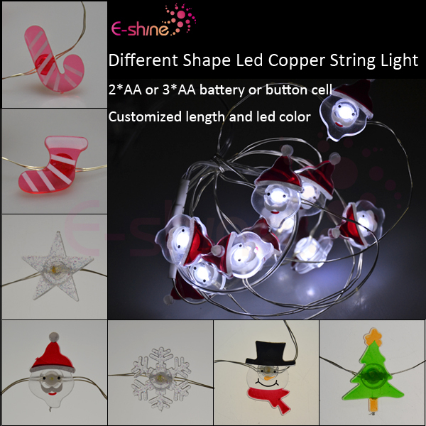Christmas Decoration Battery Operated Modelling Snowflake Led String Lights