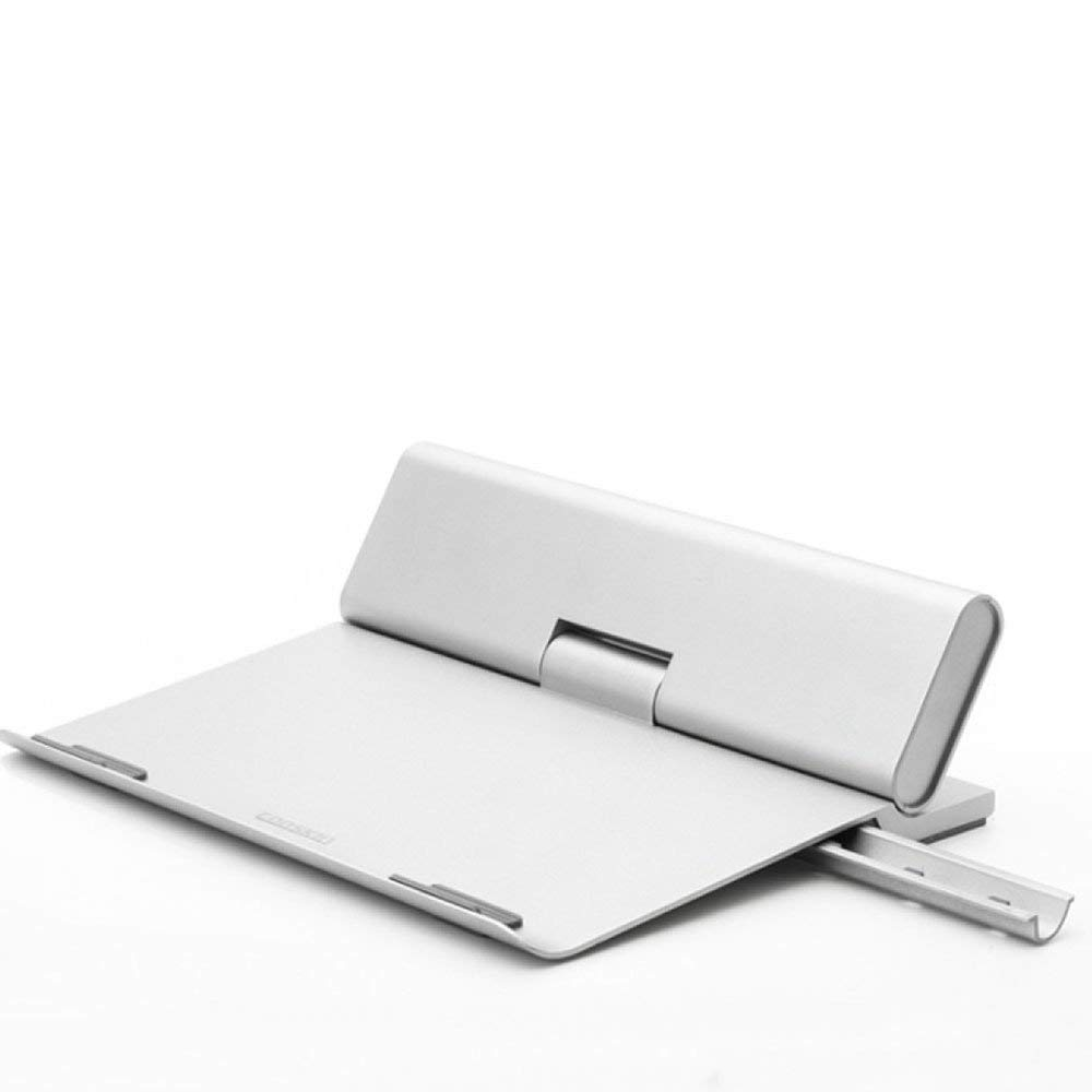 Laptop Stands LDFN Portable Table Adjustable Notebook Stand Folding Computer Laptop Table Reading Stand Desk,Silver-24.8303.5cm