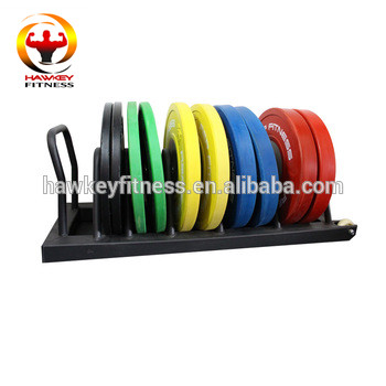 Fitness Metal Bumper plate storage Rack