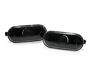 CPW (tm) CPW (tm) 99-05 VW GOLF JETTA MK4 / 97-04 PASSAT B5 B5.5 CLEAR BLACK SIDE MARKER LIGHTS