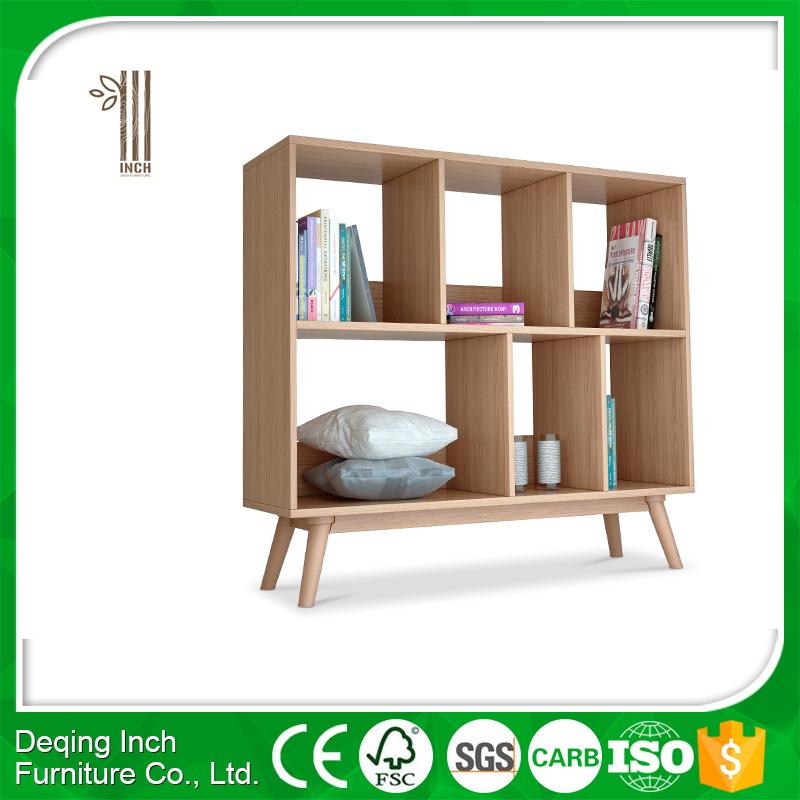 Boekenkast boekenkast perspectief afbeeldingen : Scandinavische stijl MDF hout fineer materiaal boek rack ...