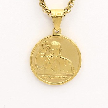 2018 ssfrancisco memorial 316l stainless steel round coin pendant