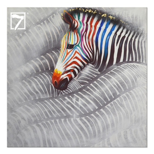 Prints with Hand Touch Canvas Painting Running Zebras home goods wall art oil canvas painting