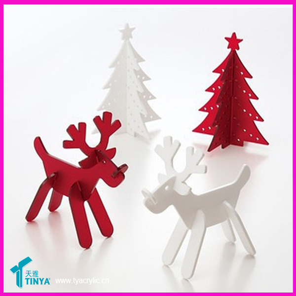 Acrylic Rudolph Perspex Laser Cut Christmas Decoration Exporter ...