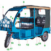 qs-b 60v 1500w powerful e rickshaw model with great price tuk tuk sale for india ,bngladesh , nepal market