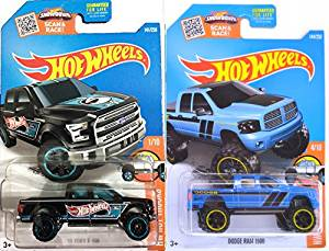Ford '15 F-150 Hot Wheels Pickup Truck & Dodge Ram 1500 #144 Hot Trucks 2016 #141 in PROTECTIVE CASES